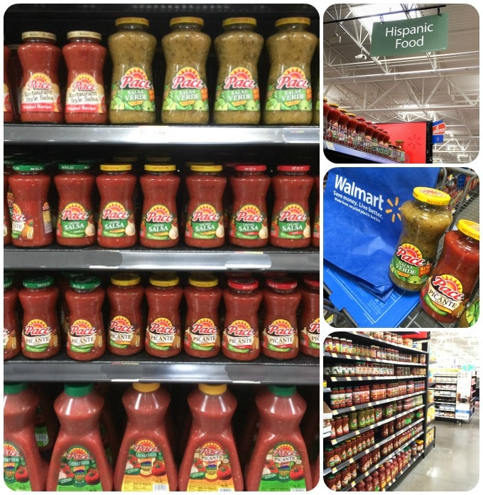 Shopping for Pace picante and salsa verde at Walmart. | ethnicspoon.com