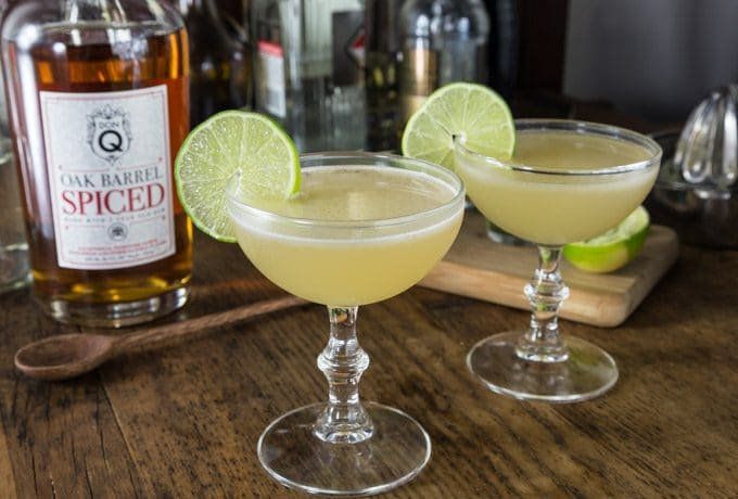 Try a spiced rum daiquiri with tart and sweet rum flavors! Shake this up and enjoy! You will love the subtle flavors in this cocktail made with Don Q Spiced rum. | ethnicspoon.com