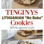 How about a traditional ethnic no-bake cookie? Lithuanian tinginys are a super easy no-bake cookie to make. It starts with, well, cookies or biscuits depending on where you are from, crumble them into chunks and add in the sweet cocoa mixture and roller them up and chill. So easy and you don't have to turn on the oven. | ethnicspoon.com