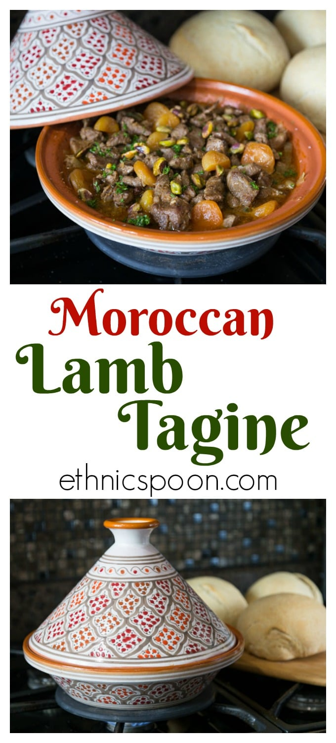 How about trying some exotic flavors in a really simple to make stew? Moroccan lamb tagine with its combination of sweet and savory flavors is one dish that is hard to resist and easy to make. You can make this in the slow cooker, dutch oven or tagine dish. #lamb #tagine #moroccanfood #morocco #lambtagine | ethnicspoon.com