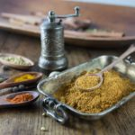 Here is an easy spice blend to make at home. Use a spice grinder or coffee grinder dedicated to grinding spices to make this Moroccan spice blend: Ras El Hanout. If you want to go old school you can use a mortar and pestle. You can sprinkle this on chicken, kebabs, lamb, add it to your tagine dish or slow cooker. Try some in soups and stews too. The flavors are amazing. | ethnicspoon.com