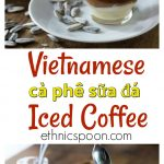 Vietnam has a huge coffee culture and I love it! Vietnamese ice coffee or ca phe sua da is a favorite summer treat with a kick of espresso. This is a popular coffee drink served all over Hanoi. You can learn how to make this recipe and use a Vietnamese phin coffee maker. #coffee #caphesuada #espresso #icecoffee #summerdrinks #hanoicoffee #vietnamcoffee | ethnicspoon.com